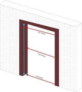 Akordiyon kapı ölçü şablonu 1